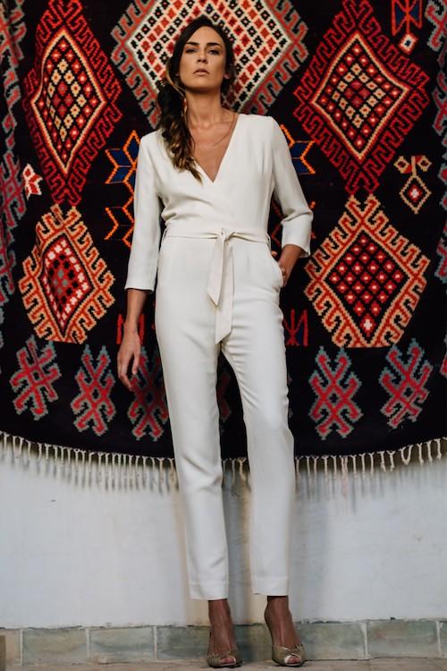 combinaison pantalon de mariage, tendance 2019, Maison Lemoine