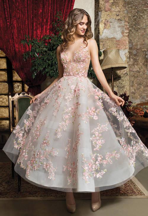 robe de mariée à motifs originale, cosmobella 2019