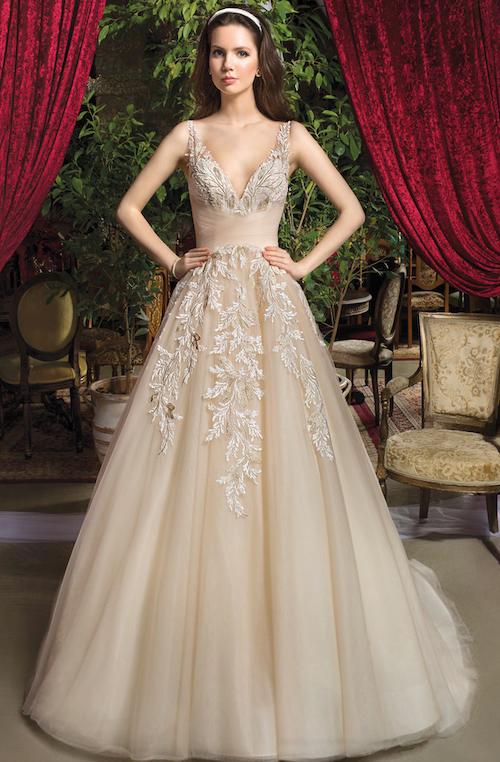 Cosmobella collection 2019, robe de mariée or