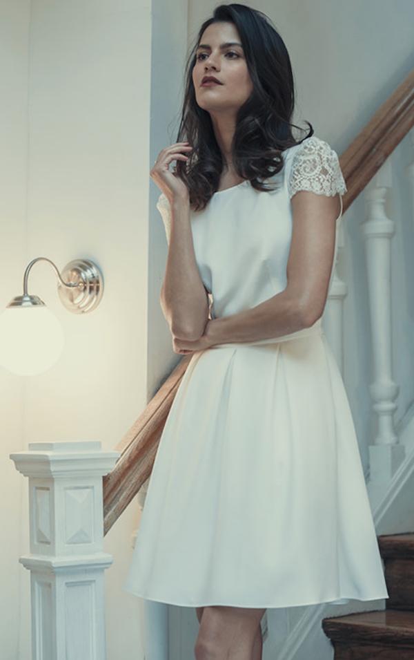 robe de mariée coupe courte