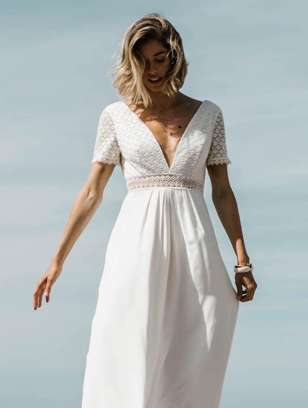 robe de mariée coupe empire