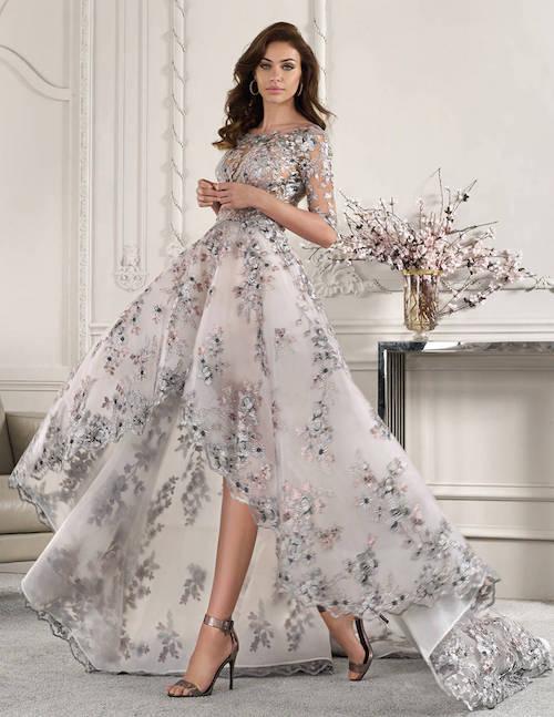 robe de mariée originale à motifs, collection 2019 Demetrios
