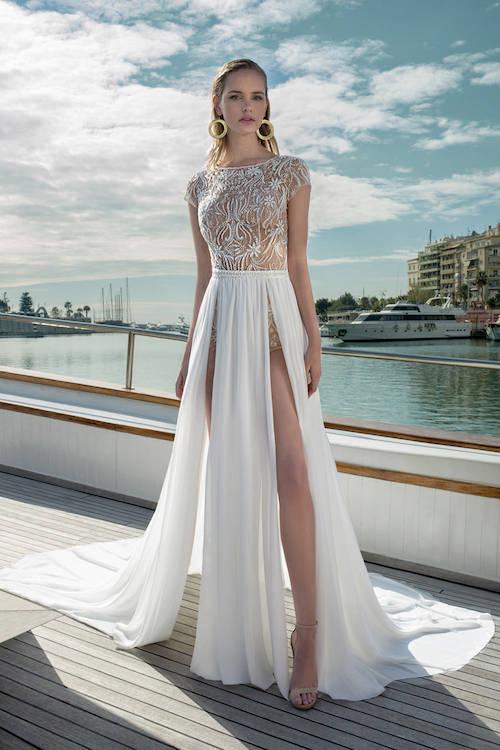 robe de mariée coupe originale, destination romance