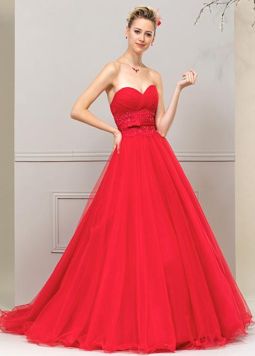 robe de mariée rouge, collection 2019 Eglantine Créations