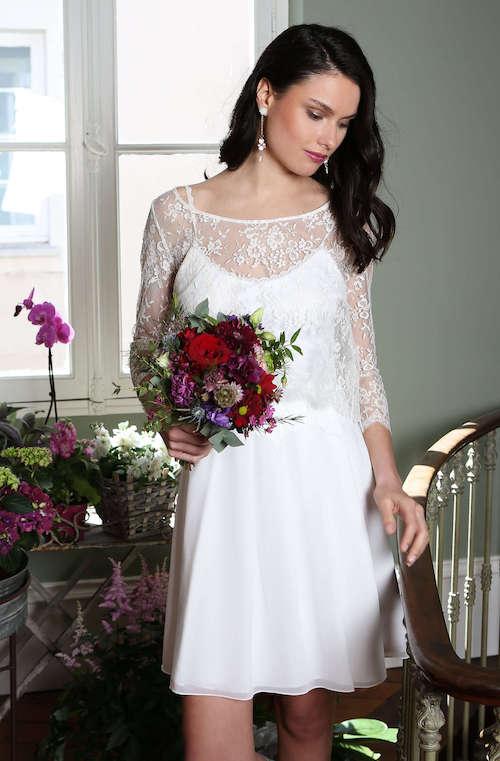 robe de mariée courte Elsa Gary collection 2019