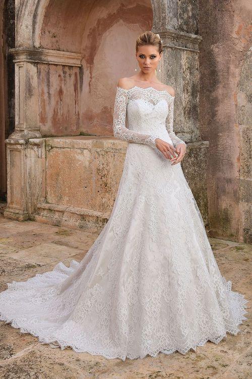 robe de mariée dentelle et princesse 2019