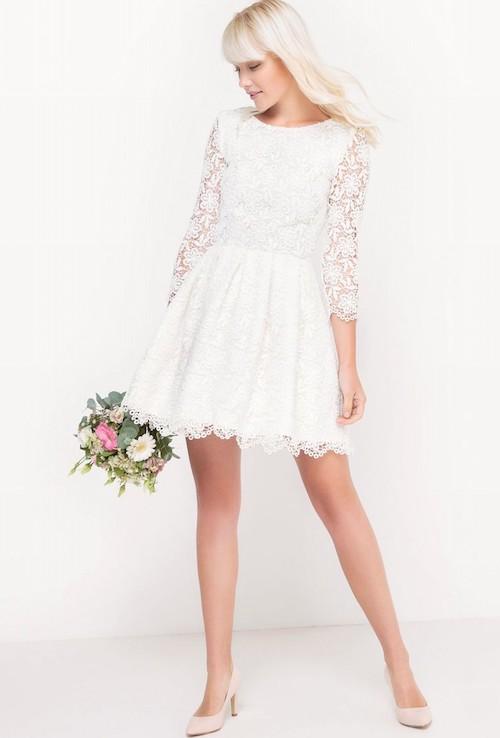 robe de mariée en dentelle pas cher, la redoute