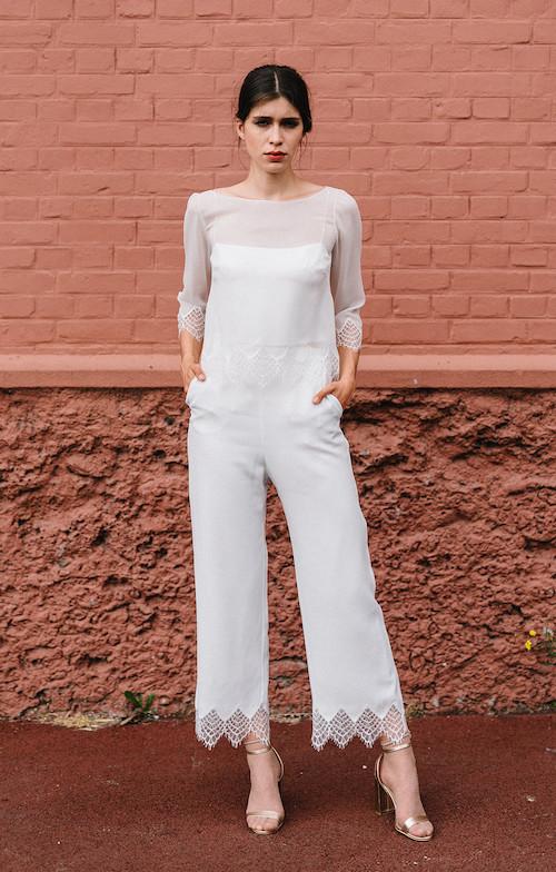 tendance mariage, pantalon mariage 2019, Mademoiselle de Guise