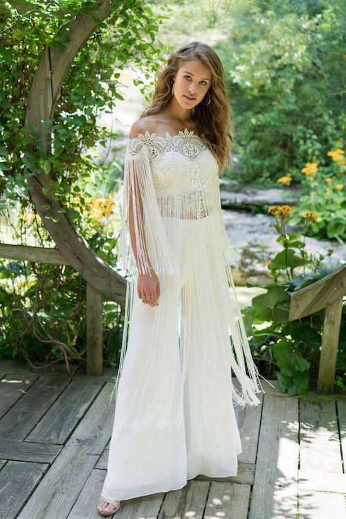 pantalon mariage bohème 2019 Lillian West