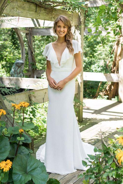 robe de mariée avec manches à volants
