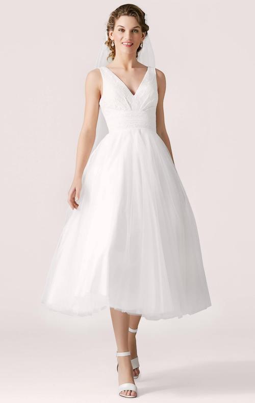 robe de mariée Lilly 2019, robe de mariée coupe midi