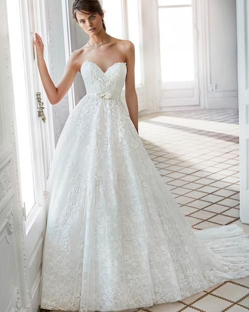 robe de mariée bustier, collection 2019 Luna Novias