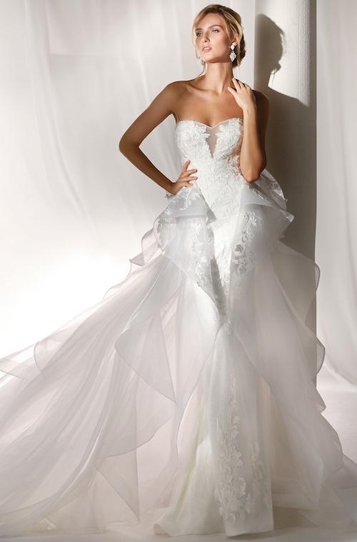 robe de mariée coupe originale, Nicole Spose 2019