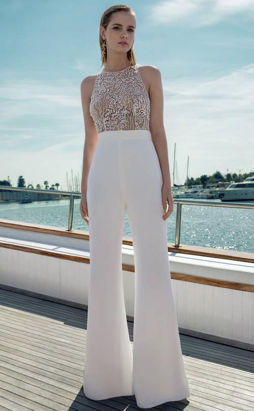 robe de mariée pantalon, destination romance 2019