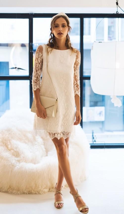 robe de mariée en dentelle pas cher, harpe
