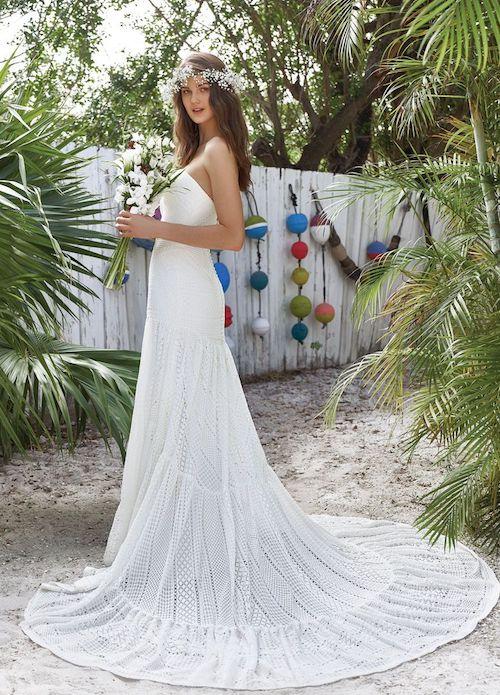 robe de mariée bustier style bohème Lillian west 2019