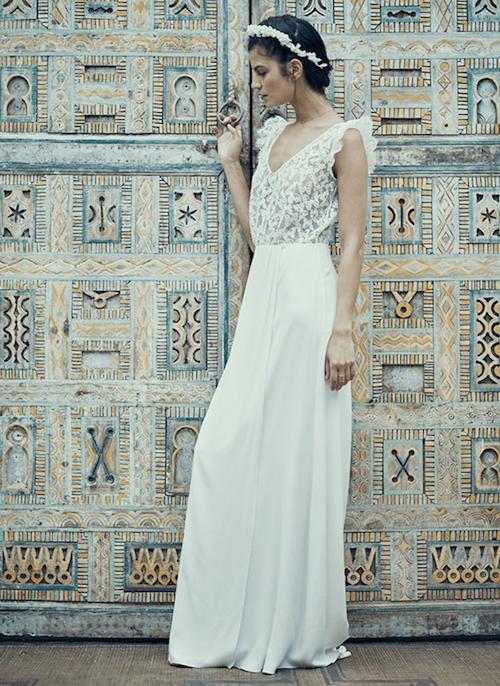 robe de mariée romantique Laure de Sagazan 2019
