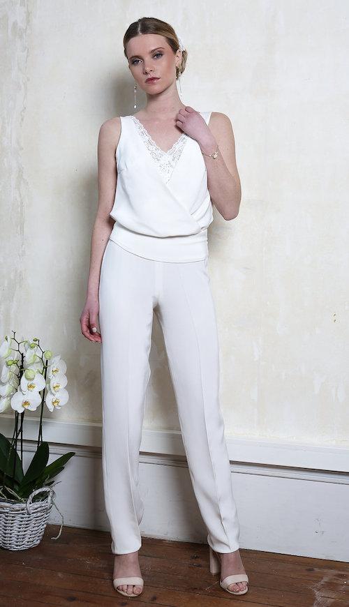 robe de mariée pantalon, Elsa Gary 2019
