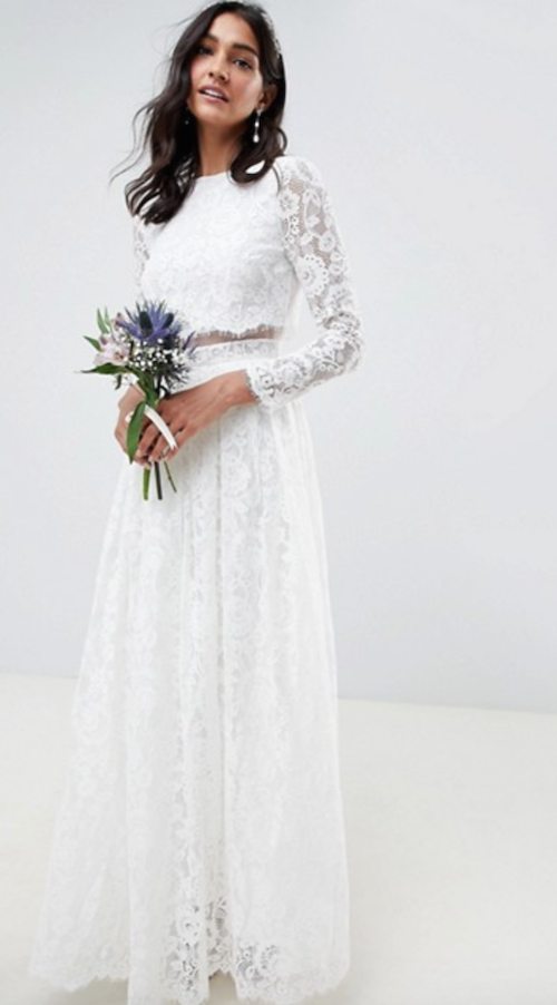 robe de mariée pas cher en dentelle, asos