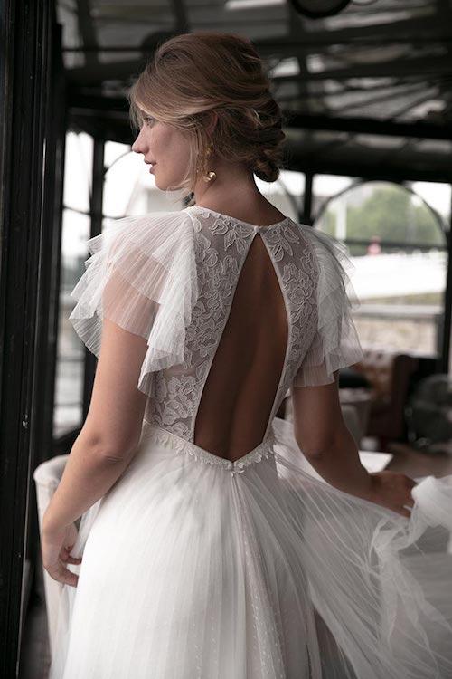 robe de mariée manches à volants