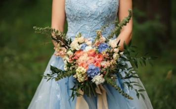 robe de mariée bleue, robe de mariée couleur, collection mariage 2019