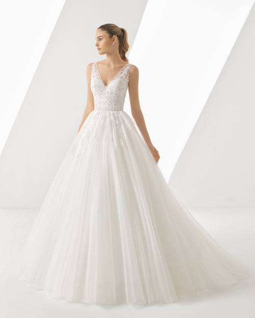 Rosa clara robe princesse 2019