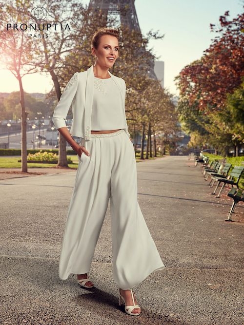 pantalon mariage 2019 Pronuptia, tendance mariage