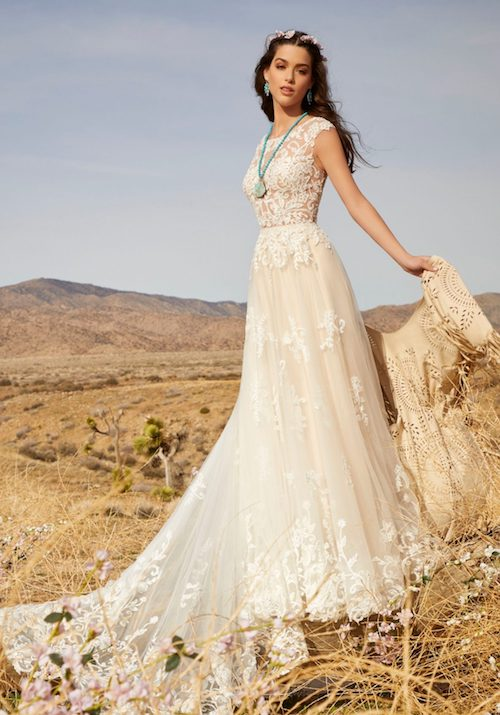 robe de mariée bohème dentelle