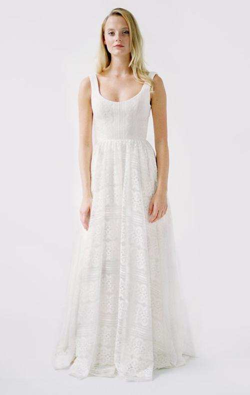 robe de mariée bohème dentelle truvelle 2019