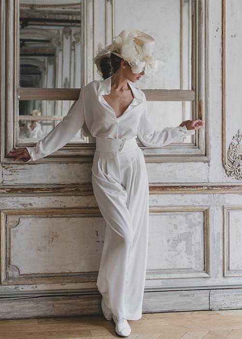 pantalon mariage, tendance mariage 2019 Victoire Vermeulen