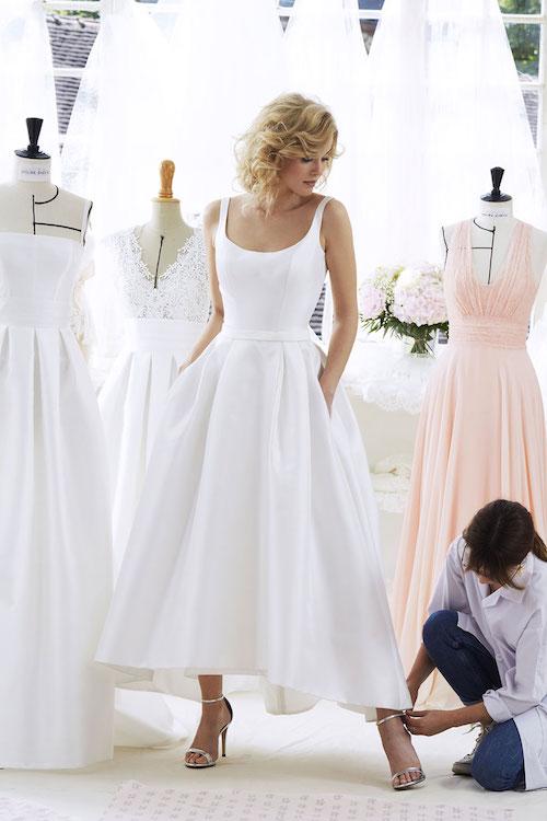 robe de mariée simple et élégante Atelier Emelia