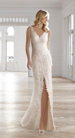 robe de mariée fendue Aire Barcelona 2019