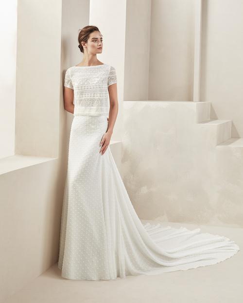 robe de mariée deux pi§ces Alma novia 2019