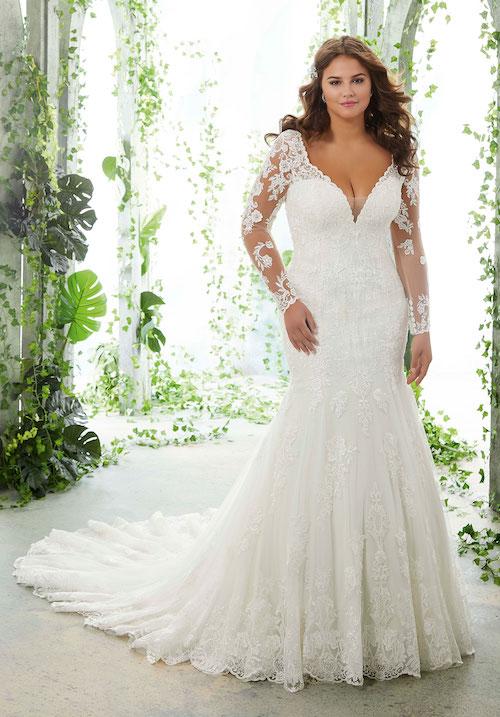 robe de mariée grande taille morilee 2019