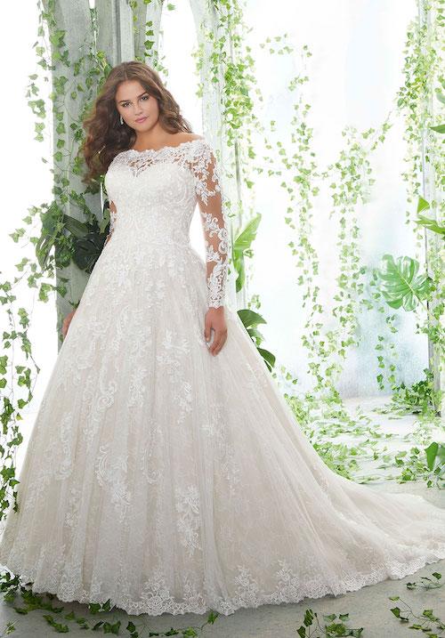 robe de mariée grande taille Morilee