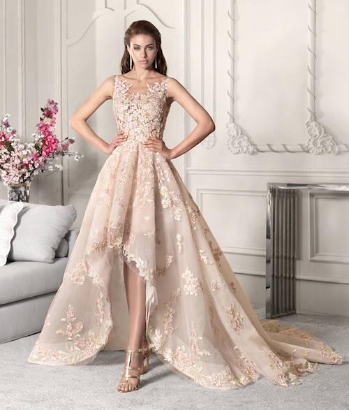 robe de mariée asymétrique Demetrios 2019