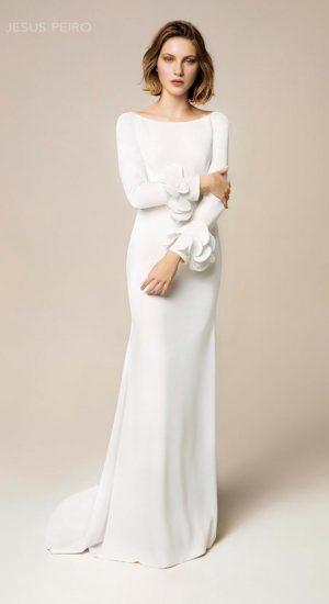 robe de mariée manches longues, hiver, jésus peiro