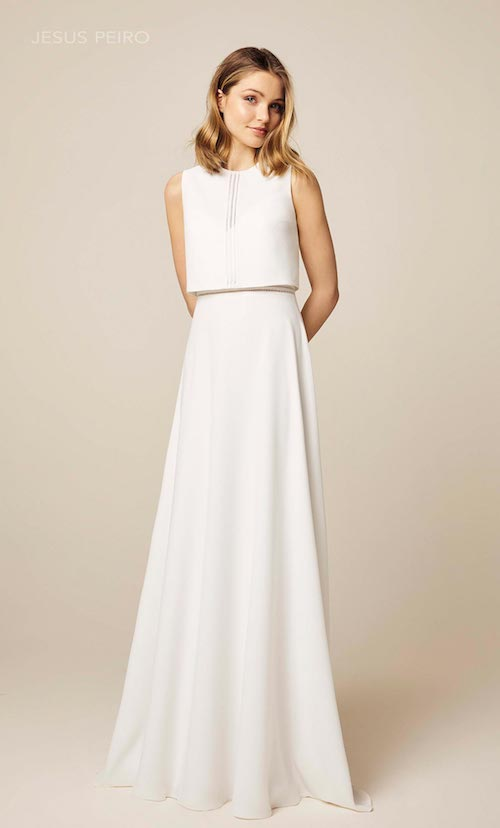 robe de mariée deux pièces jésus peiro
