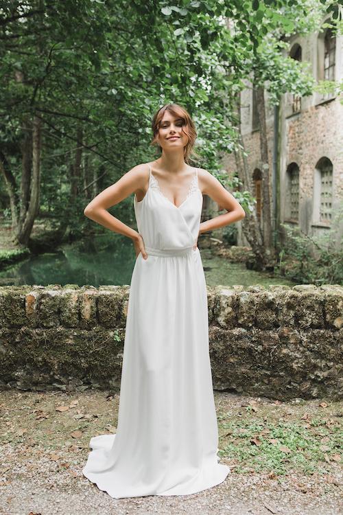 robe de mariée simple et élégante Mathilde marie