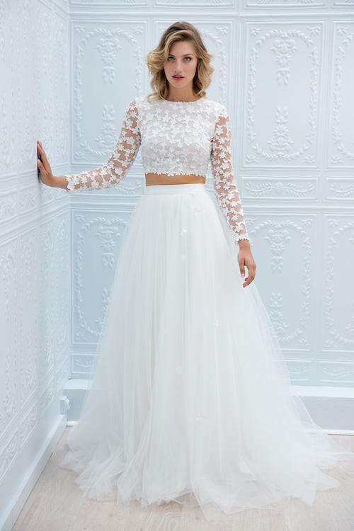 robe de mariée deux pièces marie Laporte