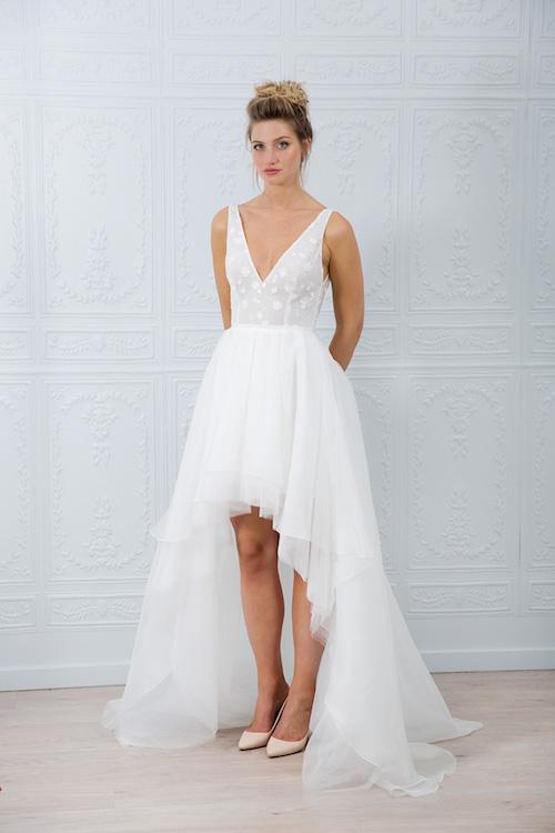 robe de mariée asymétrique marie Laporte 2019