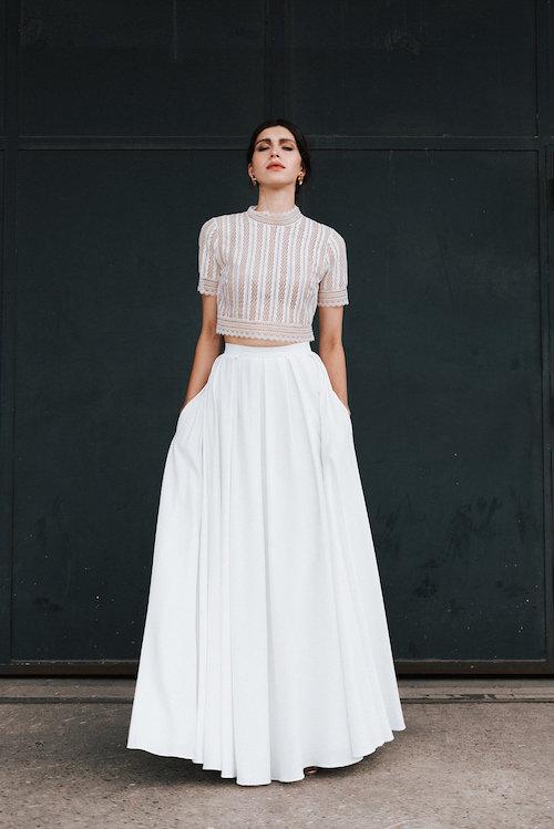 robe de mariée deux pièces mademoiselle de guise