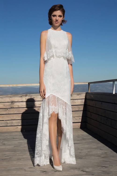 robe de mariée asymétrique Metroplitan