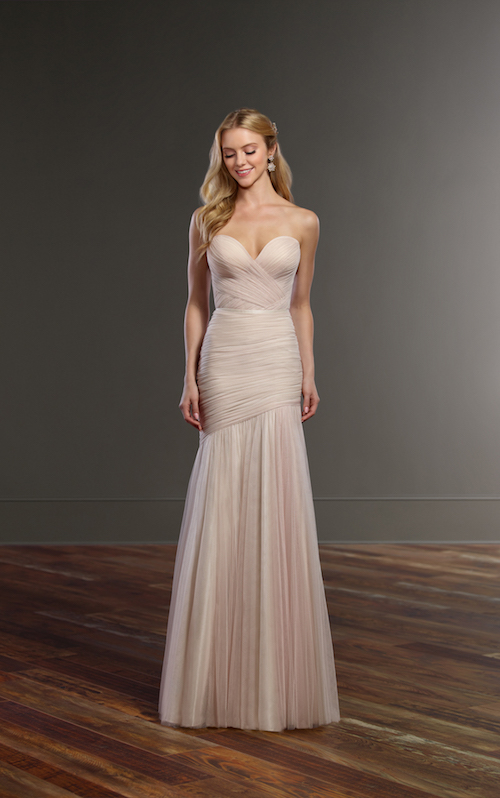 robe de mariée asymétrique Martina Liana