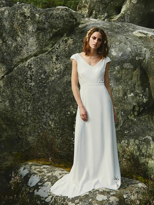 robe de mariée simple et élégante Céline de Monicault