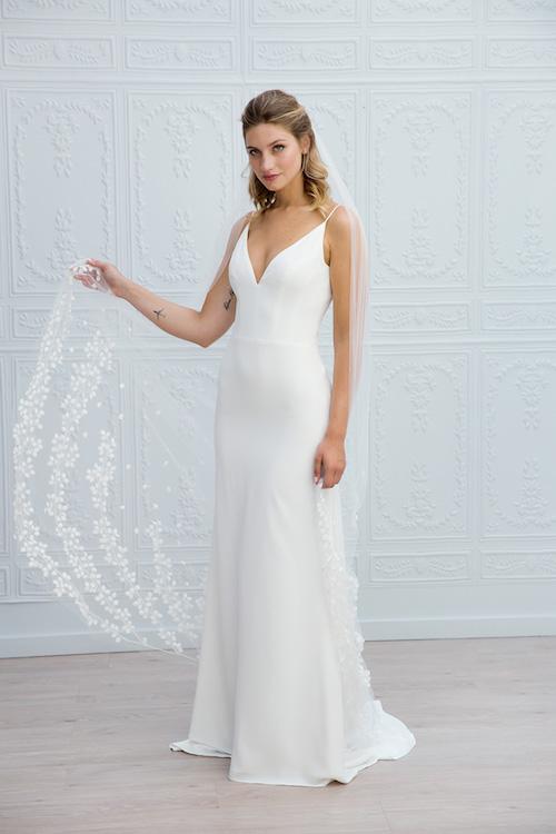 robe de mariée simple et élégante Marie Laporte