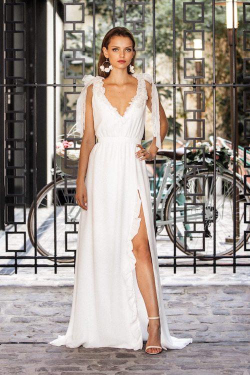 robe de mariée fendue Meryl Suissa 2019