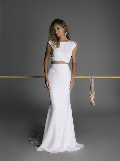 robe de mariée deux pièces rime arodaky 2019