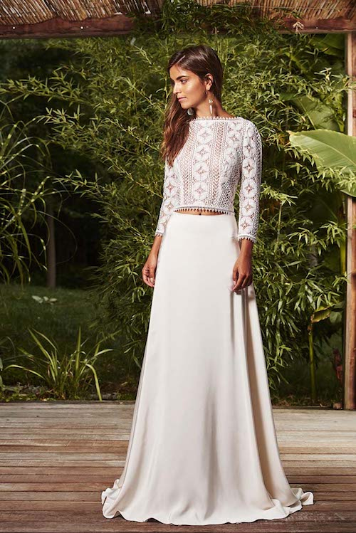 Robe de mariee en 2 pieces