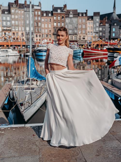 robe de mariée deux pièces Adeline Bauwin